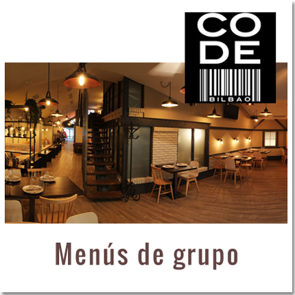 menús grupo code restaurante bilbao