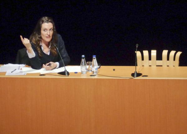 Cristina Iglesias en presentacion