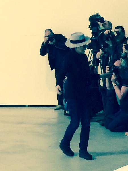 Yoko Ono ante la prensa
