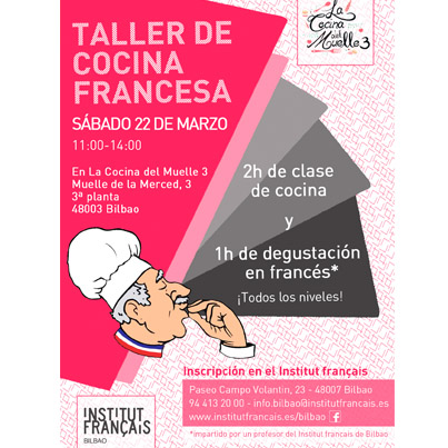 Aprende franc s cocinando bilbaoclick for Diseno de cocina francesa