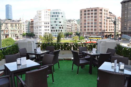 Terraza del Hotel Carlton Bilbao Copas