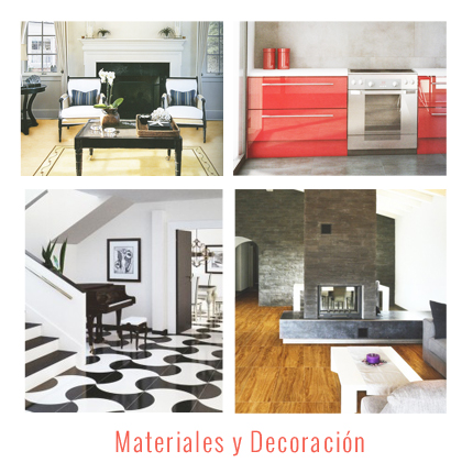Materiales y Decoración interiorismo reformas bilbao