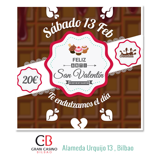 Anti San Valentín Fiesta Bilbao Casino