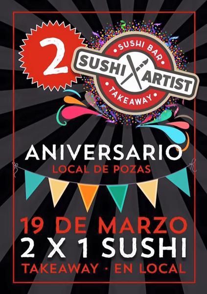 sushi artist aniversario bilbao