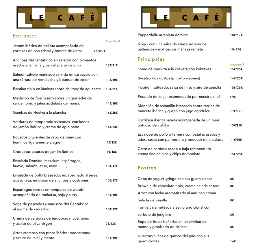 Bistrot Metropol Hotel Domine Bilbao Restaurantes Carta