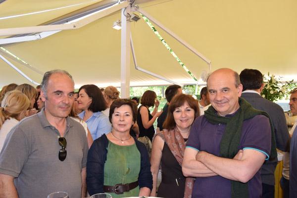 Ferando Cimavilla, Izaskun Bayo, Amaia Bayo y Luis Vega.