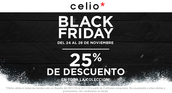 black-friday descuentos celio moda
