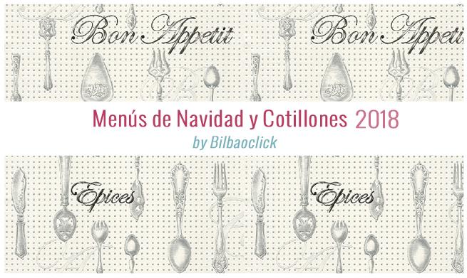Menus cotillones de Navidad 2018