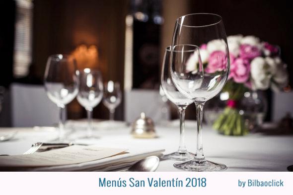 Menus San Valentin 2018 en Bilbao