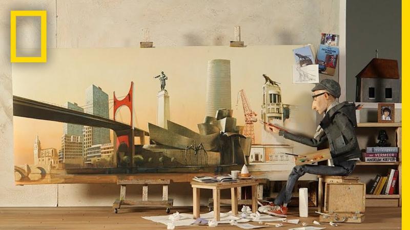 El Ilustrador de Bilbao en la sede de National Geographic
