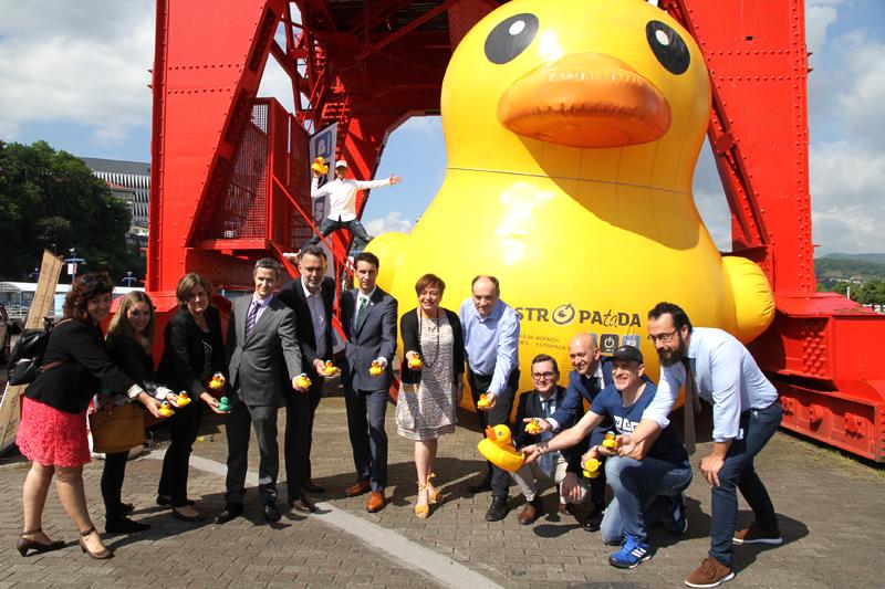 Mies de Patos saltarán a la Ría de Bilbao