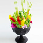 restaurante zortziko florero verduras